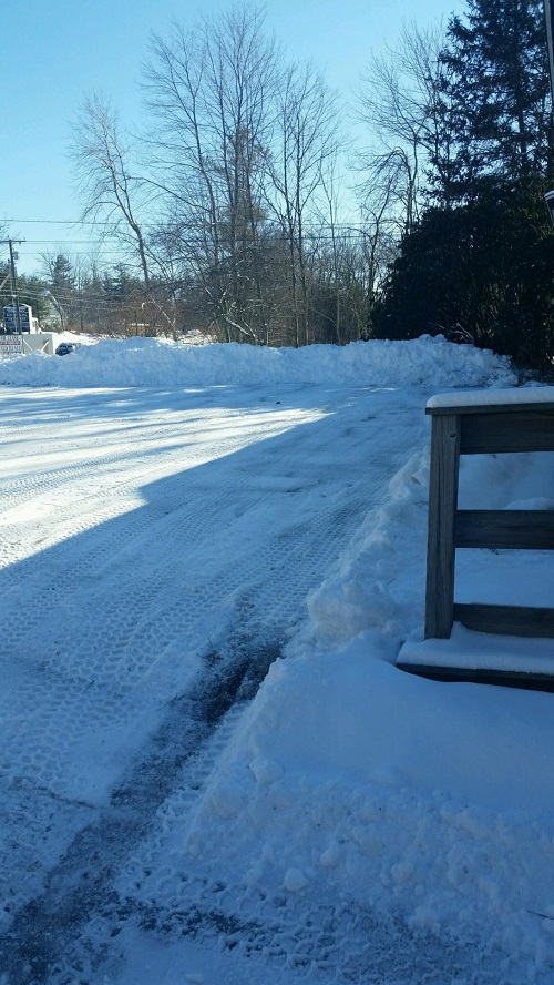 Epping NH Parking Lot Cleared
